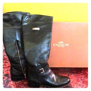Leather Coach riding boots!!